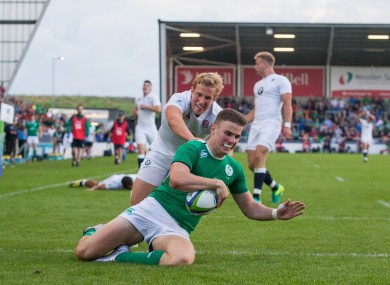 Daly scoring in the final against England.