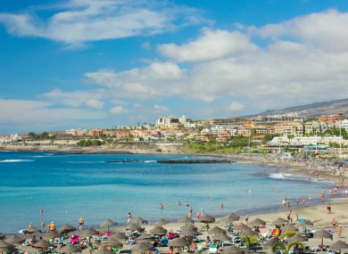 The Playa de las Américas holiday resort