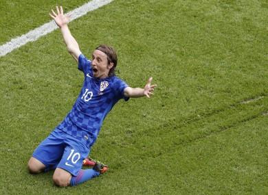Luka Modric scored Croatia's first goal of Euro 2016.