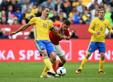 Zlatan Ibrahimovic will be hoping to the give Sweden the perfect start against Ireland on Monday.