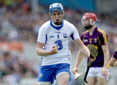Waterford's Austin Gleeson pictured competing in today's game.