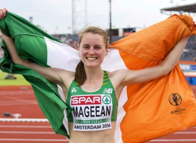 Mageean: European bronze medallist will compete over 1500m in Rio (file photo).