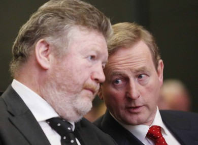 James Reilly and Enda Kenny.