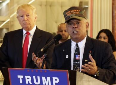 Republican presidential candidate Donald Trump pictured with Al Baldasaro