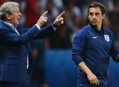 Roy Hodgson and Gary Neville.