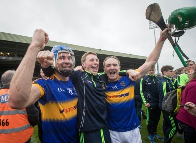John, Brian and Noel McGrath celebrate a great day for Tipperary hurling.