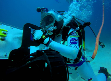 NASA astronaut Serena Aunon at the Aquarius Reef Base last year.