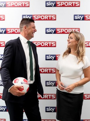 Niall Quinn and Hayley McQueen at today's launch in Dublin.