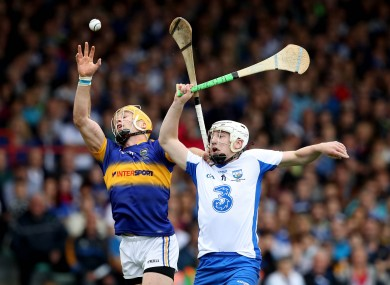 Waterford's Shane Bennett in action against Padraic Maher on Sunday.
