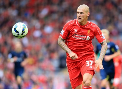 Skrtel moved to Liverpool in 2008.