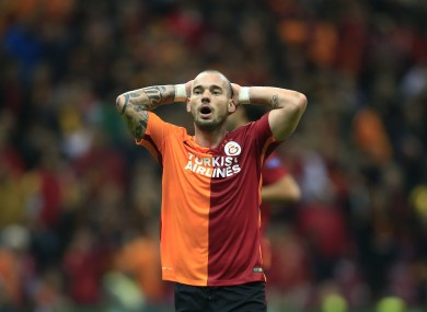 Sneijder was given a nice surprise on his return to pre-season training.