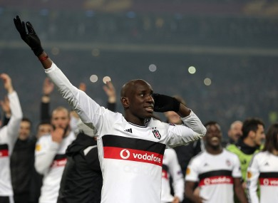 Ba in Besiktas colours after facing Liverpool in the Europa League in 2015.