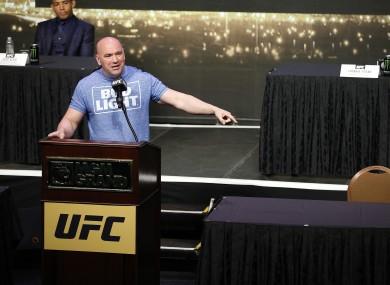 White: set to remain as UFC president.