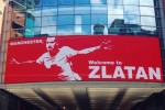 A 'Welcome to Zlatan' banner has been unveiled in Manchester