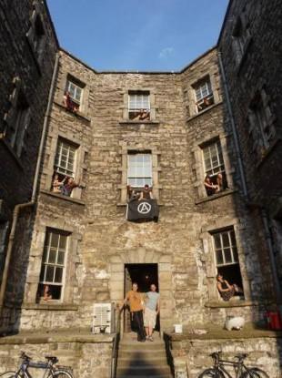 The squatters in the Debtors's Prison in Dublin.