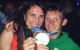 Silver medal winners Annalise Murphy and Gary O'Donovan celebrate.