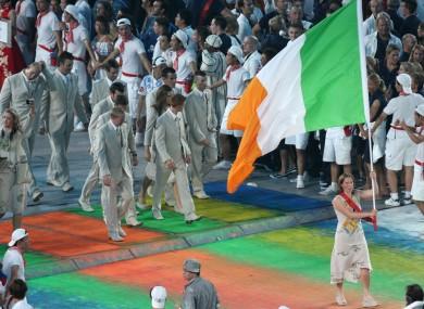 Peelo carried the Irish flag in Beijing.