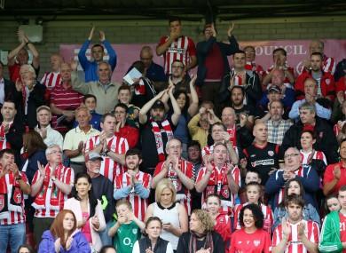 Derry fans (file pic).