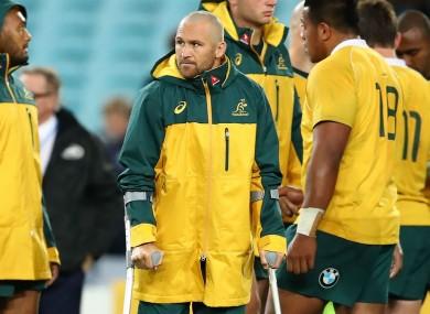 Australia centre Matt Giteau.