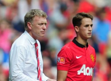 David Moyes and Adnan Januzaj at Manchester United.