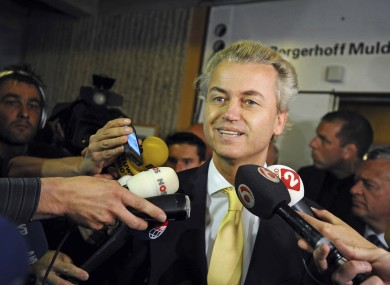 Geert Wilders, of Netherlands' far-right party.