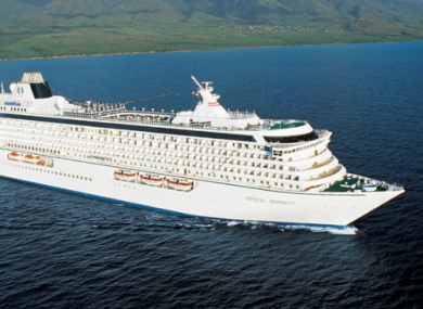 The Crystal Serenity is in the middle of its controversial and historic journey/