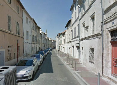 Rue des Infirmieres, where the attack happened.