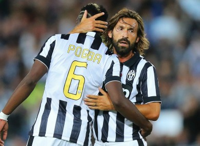 Paul Pogba with Andrea Pirlo at Juventus.