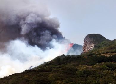 Fires burn in La Palma, Spain. (File photo)
