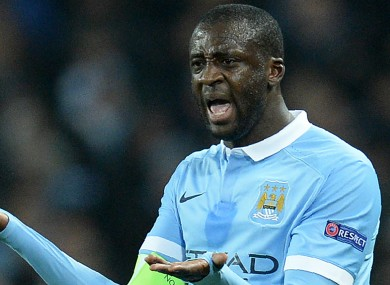 Toure could find himself out the door before the transfer window closes.