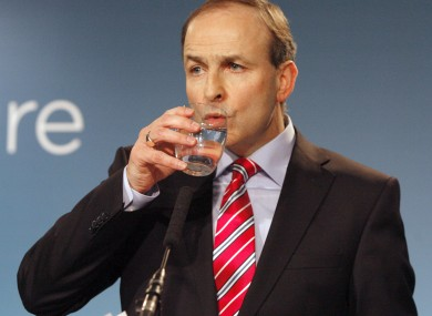 Fianna Fail leader Micheál Martin pictured in 2011.