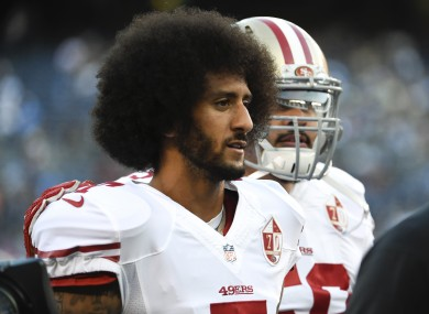 San Francisco 49ers quarterback Colin Kaepernick's decision to not stand for the US national anthem before NFL games could gain support.