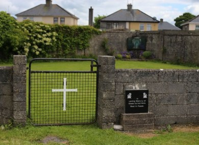 The site of the mass grave at Tuam.