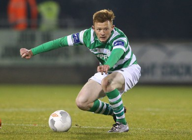 Gary Shaw scored the only goal for Shamrock Rovers tonight (file pic).