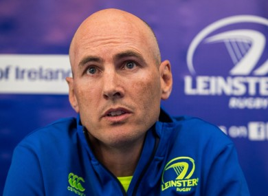 Leinster backs coach Girvan Dempsey.