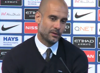 Guardiola loses patience during the press conference.
