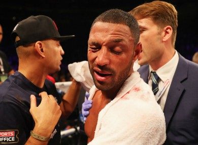 Kell Brook following his defeat to Gennady Golovkin.