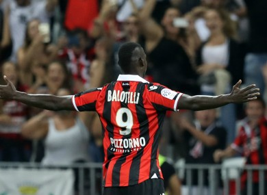 Nice attacker Mario Balotelli