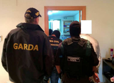 Gardaí and the Guardia Civil arrest a man yesterday.