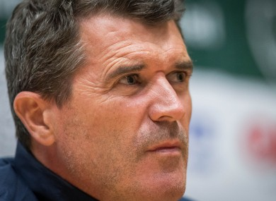 Keane at today's press conference.