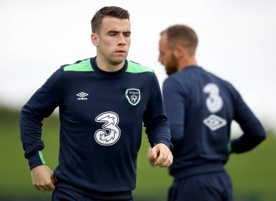Coleman training at the FAI's National Training Centre.