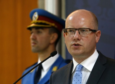 Czech Prime Minister Bohuslav Sobotka says he's worried about the safety of Czech citizens living in the UK.