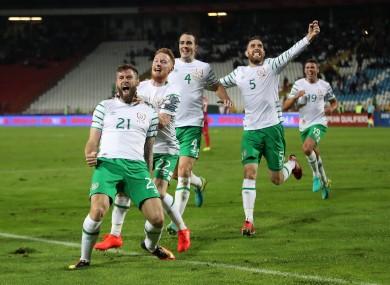 An overjoyed Daryl Murphy after his goal.