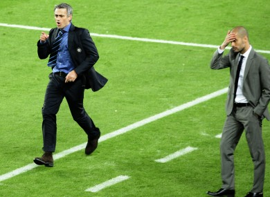 Mourinho and Guardiola during their spells at Inter Milan and Barcelona.