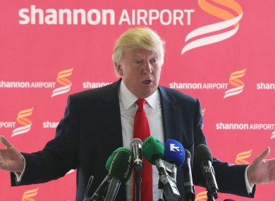 Trump at Shannon Airport in 2014.