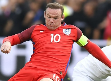 Wayne Rooney in action for England.
