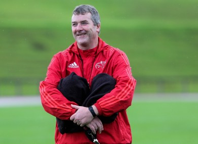The Munster head coach passed away on Sunday.