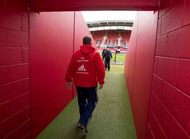 The Munster head coach will permanently be remembered at Ravenhill.