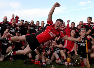 Ben O'Connor celebrates Oulart-the-Ballagh's win in Wexford.