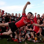 Oulart-The Ballagh Oulart's Ben O'Connor does his best superman impression.<span class=